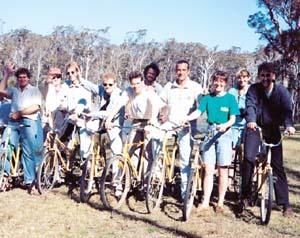 Ensemble XXI on bikes in Australia